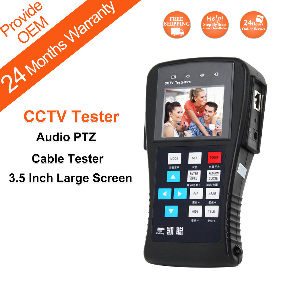 Free Shipping CCTV Tester Multifunctional for Projects Digital PTZ Controller LAN Cable CCTV Camera Tester KaiCong K625Plus(China (Mainland))