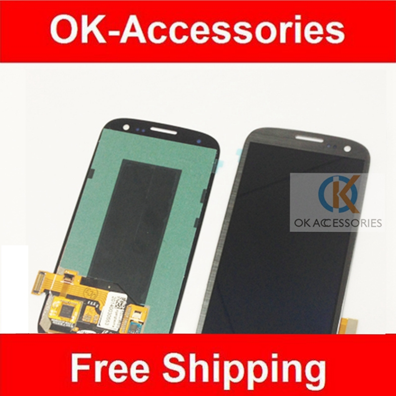 4.8Inches Grey Color Samsung Galaxy S3 i9300 GT-I9300 i9305 i747 T999 Digtizer + LCD Display Assembly 1PC/Lot - Ok-Accessories Co.,Ltd store