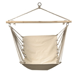 Book pure white canvas casual outdoor hammock hanging chair