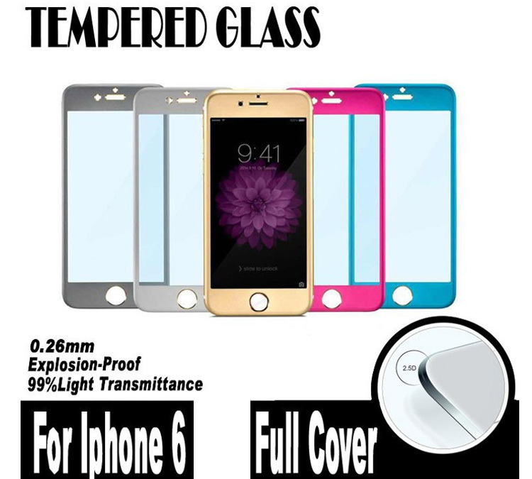 Anti Shatter Full Covering Film Cover Titanium Alloy Metal Toughened Tempered Glass iphone 6 6G 4.7 Inch Screen Protector - TeoYall Store store