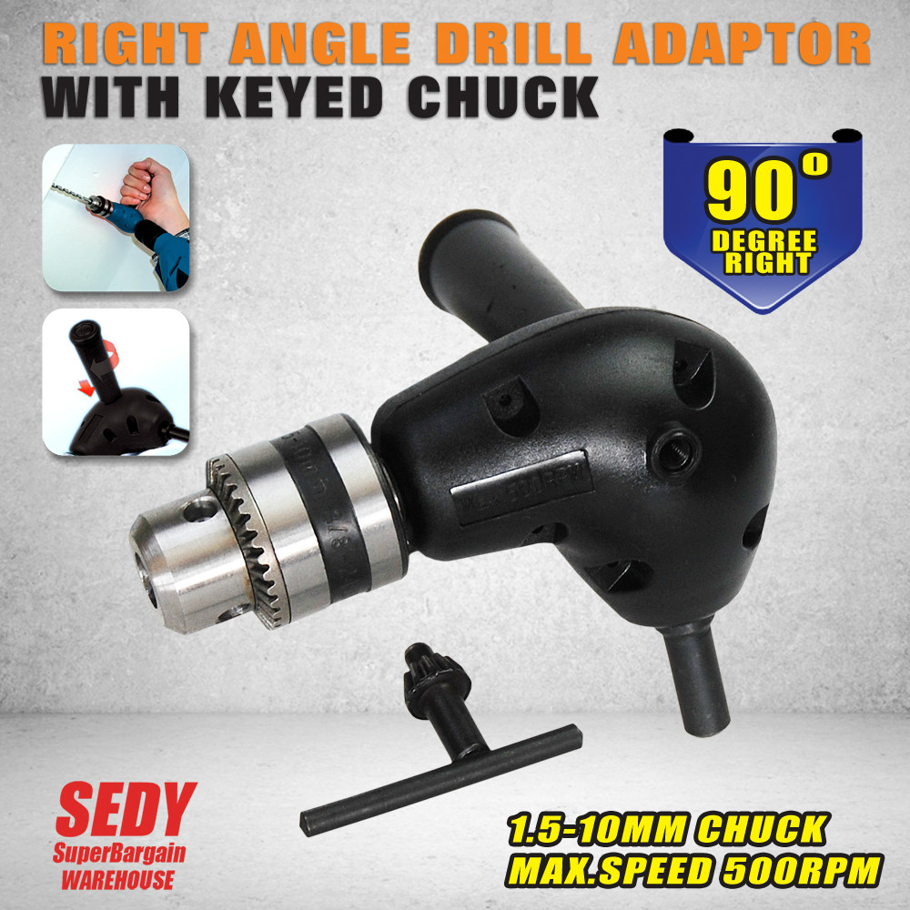 Right Angle Drill  Adaptor  With Keyed Chuck<br><br>Aliexpress