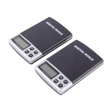 In stock! 1pc 2000g x 0.1g Portable LCD Display Mini Pocket Electronic Digital Jewelry Scales Weighing Kitchen Scales Balance