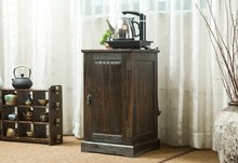 Japanese Antique Wooden Tea Cabinet Paulownia Wood Asian Traditional Furniture Living Room Drawer Storage Cabinet(China (Mainland))