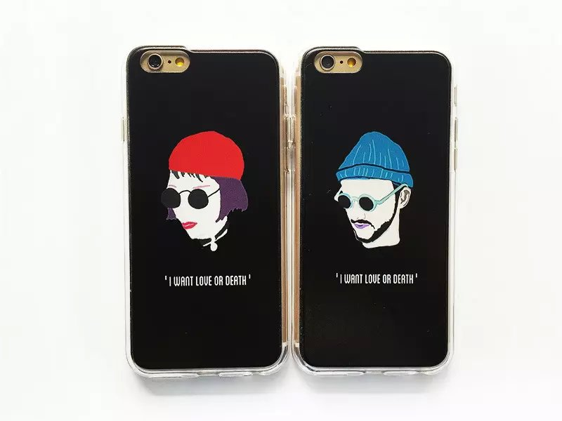 New idea 1PC fashion hats glasses Profile Photos cartoon images 2 in 1 Transparent Borders Case Cover for iPhone 6 6plus 4.7 5.5(China (Mainland))