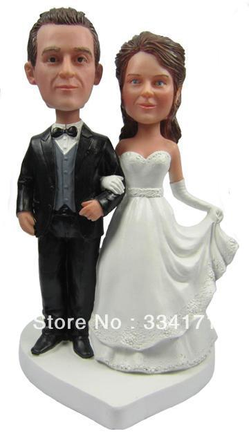 Express free shipping Personalized bobblehead doll getting married wedding gift wedding decoration polyresin Custom doll(China (Mainland))