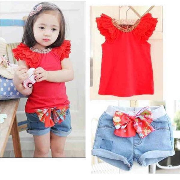 Комплект одежды для девочек 2 + bow/knot 1/6y 2 XL066 блузка для девочек yrd 1 6y xl793