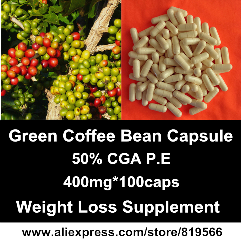 Green Coffee Bean Extract Capsule Natural Weight Loss Diet Fat Burn Products Slimming Herbal Dietary Supplements(China (Mainland))