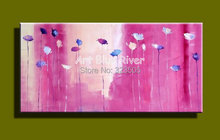 Buy Big size pink floral Abstract modern wall art canvas handmade oil painting on canvas sofa bedroom living room decoration for $75.00 in AliExpress store