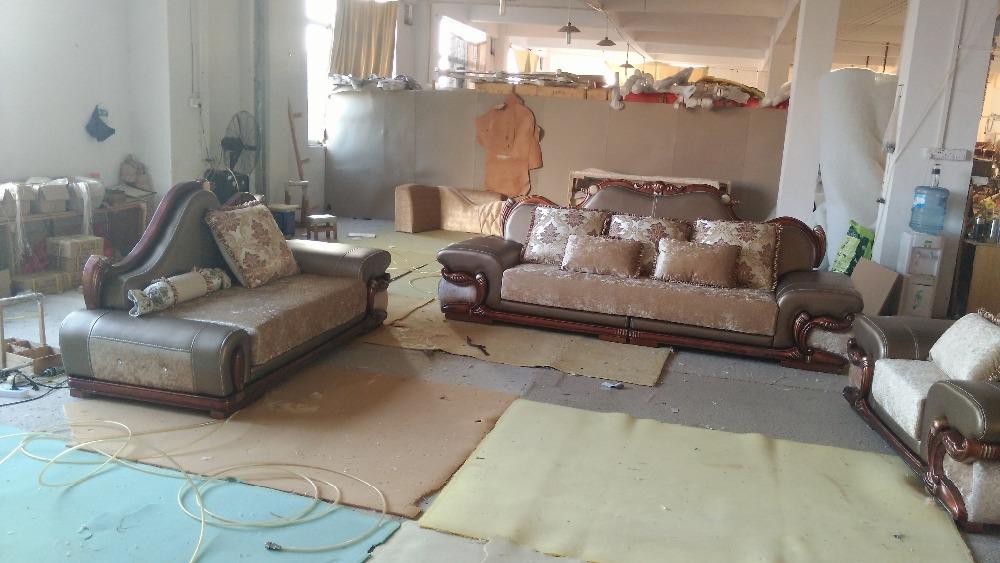 2017 Top Fashion Set Antique Sectional Sofa Beanbag Armchair European Design Hot Sale 321 Style Sofa , Home Cornet Living Room(China (Mainland))
