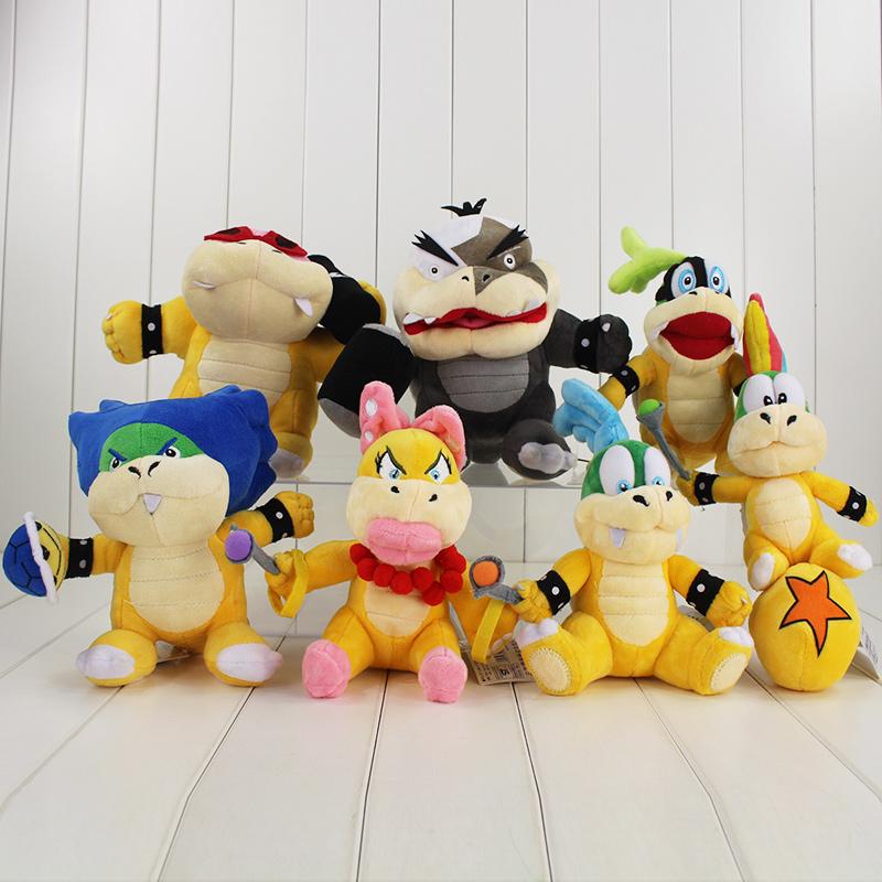 7styles New Super Mario Plush Toy Super Mario Soft Doll Mario Dragon Remy Eji Larry Stuffed Toys/Brinquedos Kids Toys(China (Mainland))