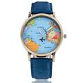 New 2017 Fashion Quartz Watches Women world Map Watches Casual Brand Female Wristwatch Ladies Clock relogio