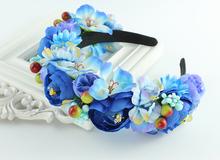 Handmade Flower Headband Woman Girls Wedding Party Hair Accessories Bride Bridesmaid Flower Garland Tiara Headpiece