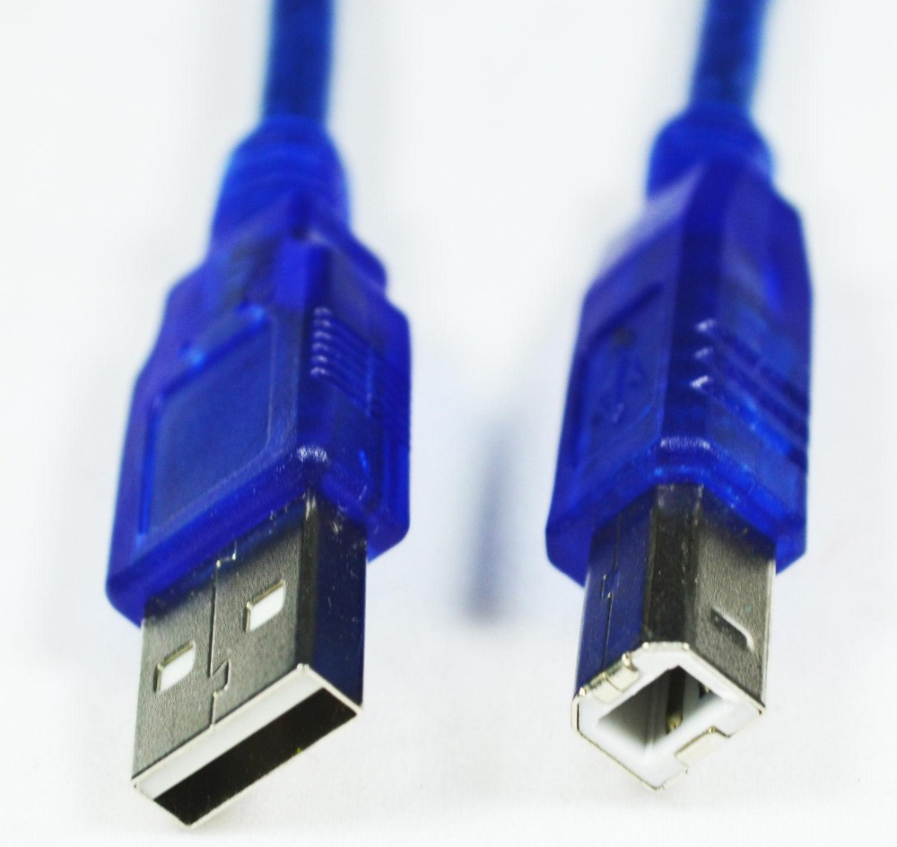 Free Post Shipping! 30CM High Speed USB 2.0 A Male to B Male Data Transfer Printer Cable Cord Blue DYX01(China (Mainland))