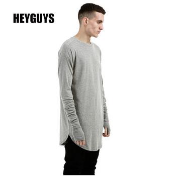 HEYGUYS original 2016 men's solid foundation Europe street style simpleT-shirt long sleeve t-shirt t-shirt bottoming loose head