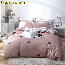 Nordic Simple King Bedding Set Adult Duvet Cover sets with Pillow case Bed Linen Single Double Queen size Quilt Comforter Covers(China)