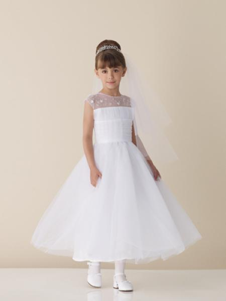 Shining Beaded 2015 Flower girl dress with Jewel Neckline Zipper Back Flower Girl Dresses Thanksgiving dress SM28(China (Mainland))