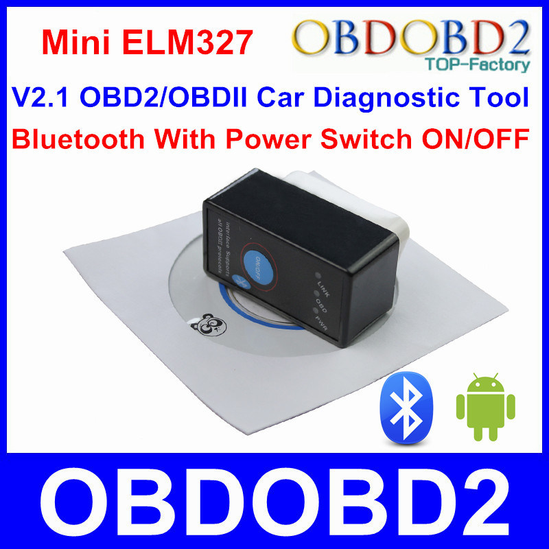 High Quality ELM 327 Power Switch ON/OFF Auto Scanner Works On Multi Brand Cars V2.1 ELM327 Diagnostic Tool With Multi Languages(China (Mainland))