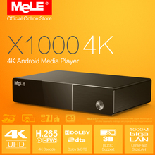 4K Android Media Player MeLE X1000 4K Realtek 1195 H.264 H.265 HDMI 1.4 Blu-ray ISO 3D BDMV Samba Dolby DTS 7.1 XBMC Add-ons(China (Mainland))