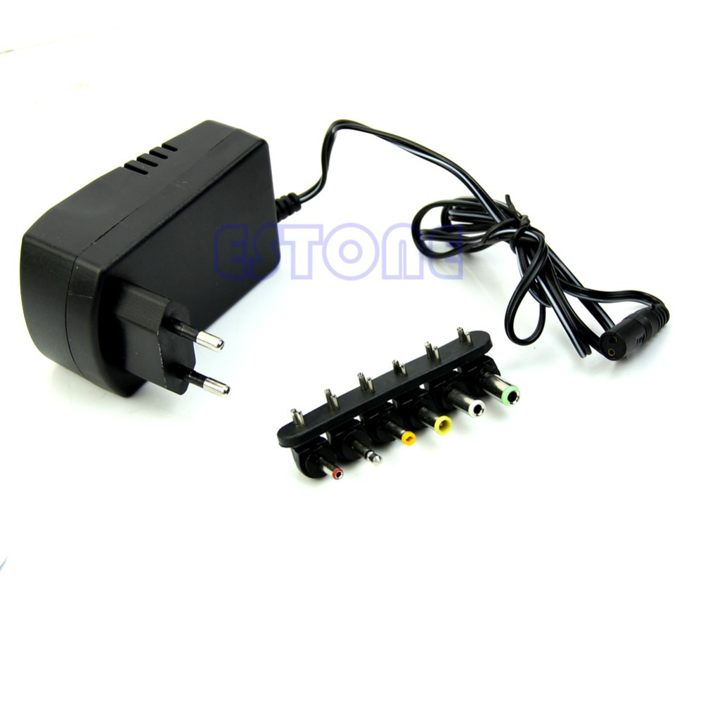 1pc EU Plug Universal AC/DC Adaptor Power 3V 4.5V 5V 6V 7.5V 12V DC Charger(China (Mainland))