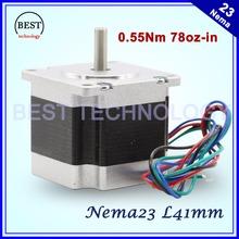 Buy NEMA23 stepper motor 41mm 2.8A 0.55N.m 78Oz-in Nema 23 4wires Hybird stepper motor CNC stepping motor CNC machine 3D printer for $11.40 in AliExpress store