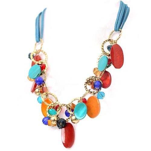 Attractive Women's Jewelry Beads Handmade Choker Collar Statement Shell Pendant Necklace(China (Mainland))