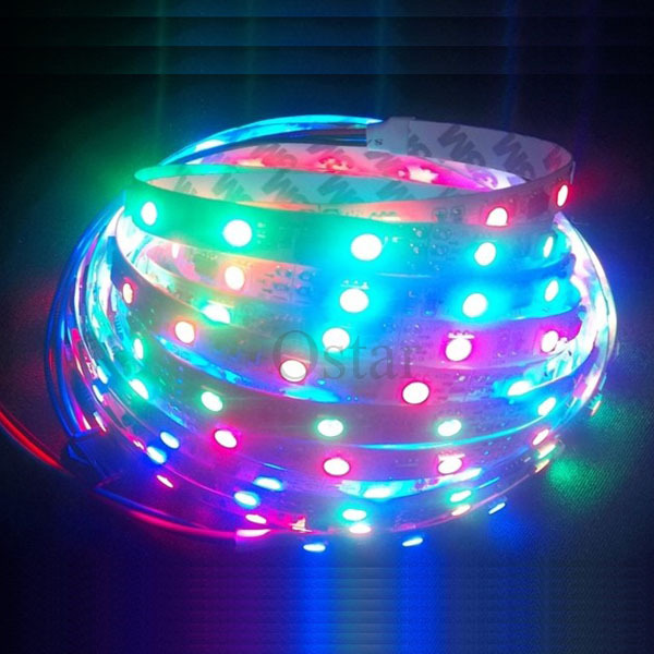 Customize Length Nonwaterproof WS2801 Digital RGB LED Strip 32LED and 32ICs DC5V(China (Mainland))