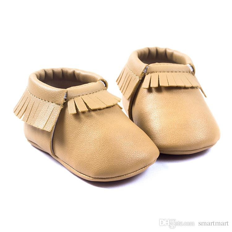New Born Baby Girls &amp; Boys Toddler Shoes Kids Tassels Brown Color Pu Leather Shoes First Walker Shoes Western Sweet Baby Shoes<br><br>Aliexpress