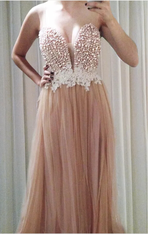 Hotsale Floor Length Sweetheart Strapless Evening Dresses 2014 New Pink Appliques Maternity pregnant Women Formal Prom Gowns(China (Mainland))