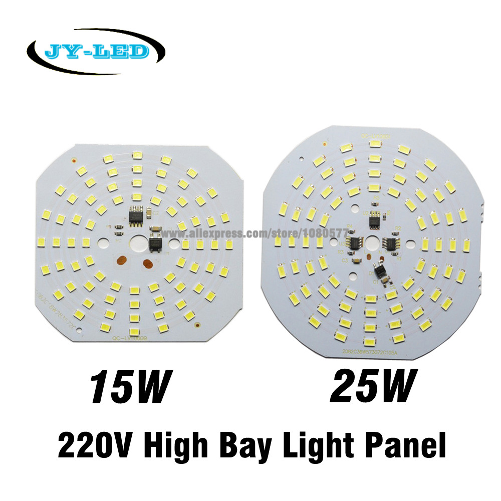 5pcs 15W 25W 220V Lamp Plate Needn't Driver Light Source Panel, SMD 5730 2835 High Bay Light LED PCB(China (Mainland))