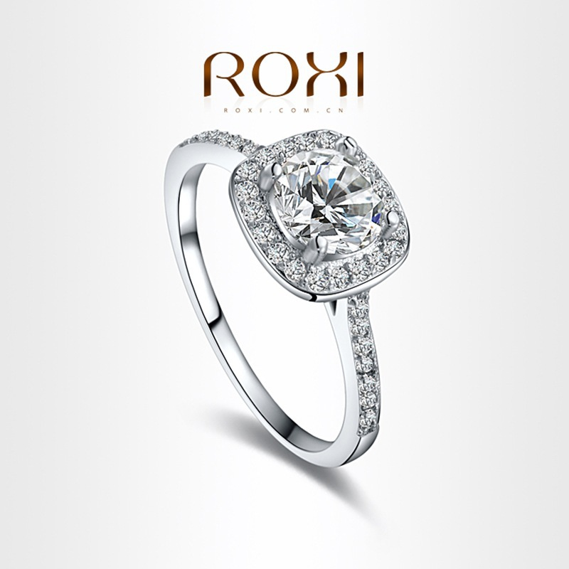 roxi brand best selling white gold platinum plated