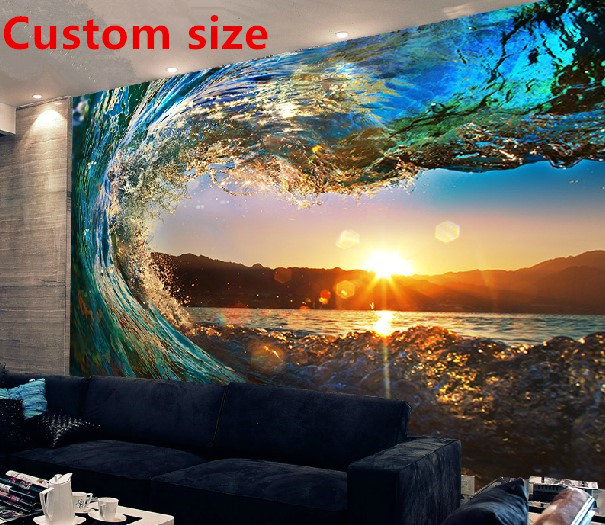 Custom 3d photo mural wallpaper scenery wall paper for 3d wallpaper waterproof