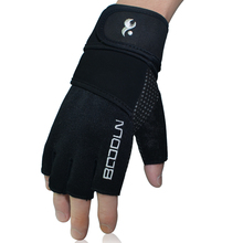 Free shipping Gym Body Building Training Fitness Gloves Sports Weight Lifting Exercise Slip-Resistant Gloves For Men And Women