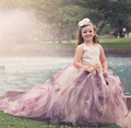 2015 Girls dress Trailing long paragraph tutu dress Birthday party dress High end children dress Lace