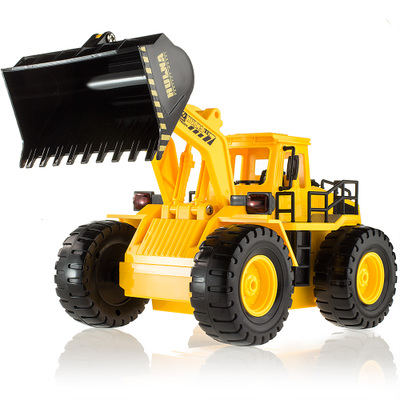 Kids Toy 6CH Wireless Remote Controlled Chargeable Engineering Vehicles RC Bulldozer Truck with Light Free Shipping(China (Mainland))