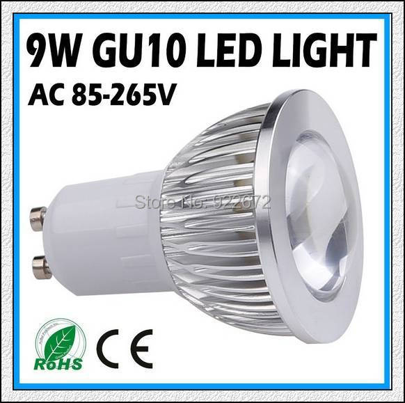 FREE SHIPPING 1PCS 3W 9W 12W 15W GU10 E27 E14 COB LED Spot Light Spotlight Bulb Lamp High power lamp 85-265V Warranty 3 years(China (Mainland))