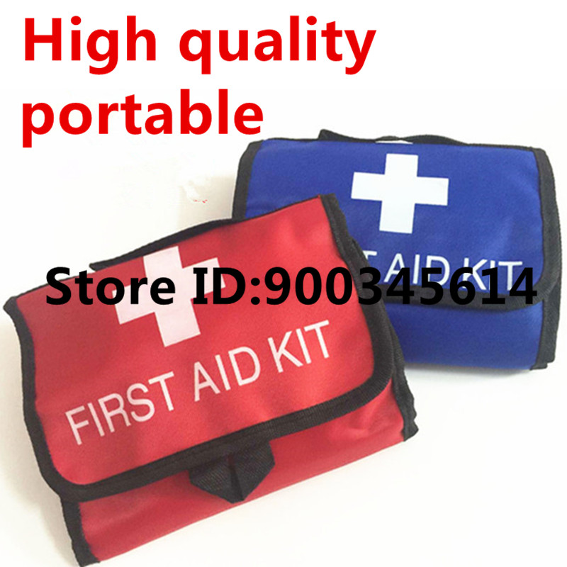 empty medical first aid kit bag for factory ,earthquake,home,travel kit bag handbag,nylon portable pouch(China (Mainland))