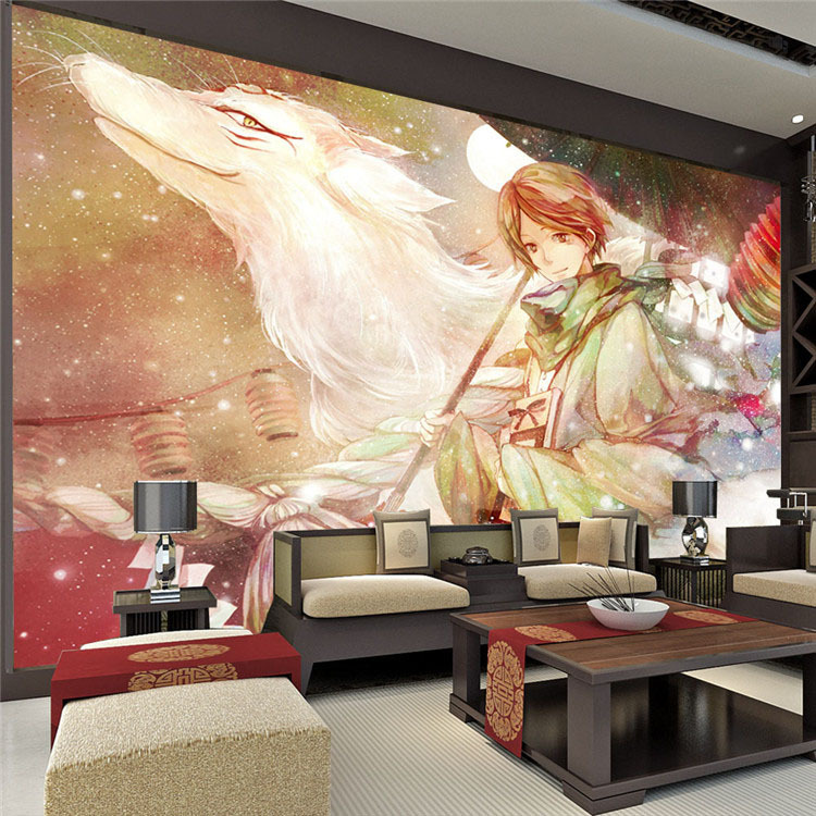 Custom large anime photo wallpaper room decor natsume 39 s for Wallpaper and decor