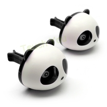 Car Styling Air Freshener 1 Set Car Air Conditioning Vent Perfume Panda Eyes Will Jump 5 Colors Parfume Hot Sale(China (Mainland))