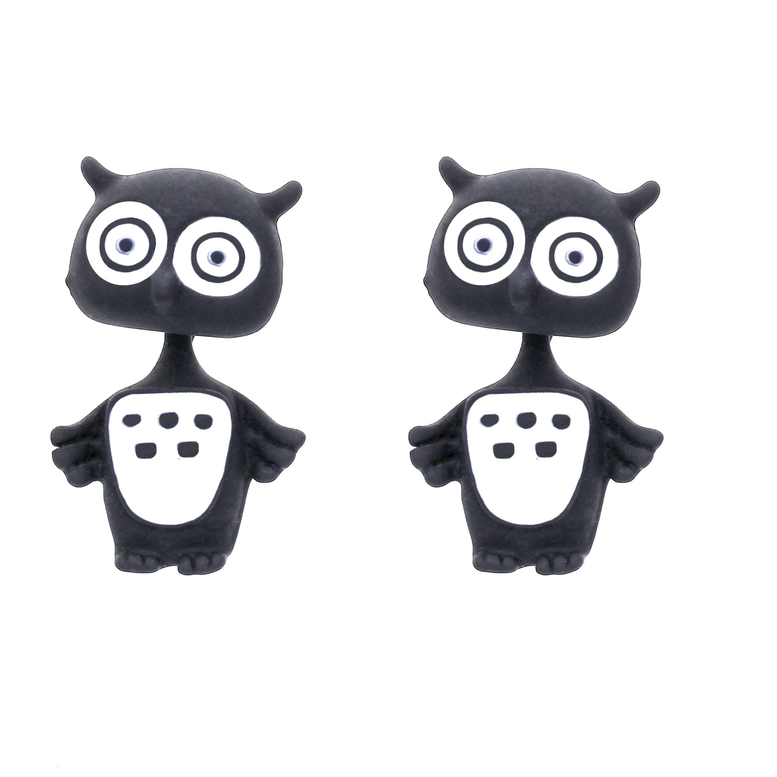 Sunshine New Multiple Color Polymer Clay 3d Owl Stud Earrings For Women  Gifts Kawaii Animal Earrings