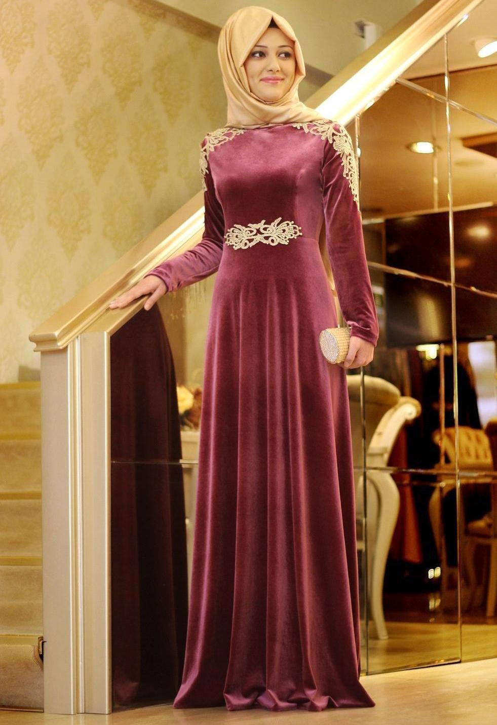 robe la mode robes soirees hijab. Black Bedroom Furniture Sets. Home Design Ideas