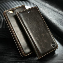 "2016 New For Apple iPhone 6 6S Plus 5.5"" High Quality Leather Luxury Flip Stand Magnet Cover Case Insert Card Mobile Phone Bag"