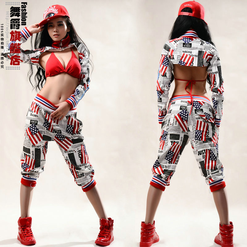 Hot! New fashion 2014 Women Hip hop pants dance wear ds sweatpants costumes loose casual female sports pant harem trousers(China (Mainland))