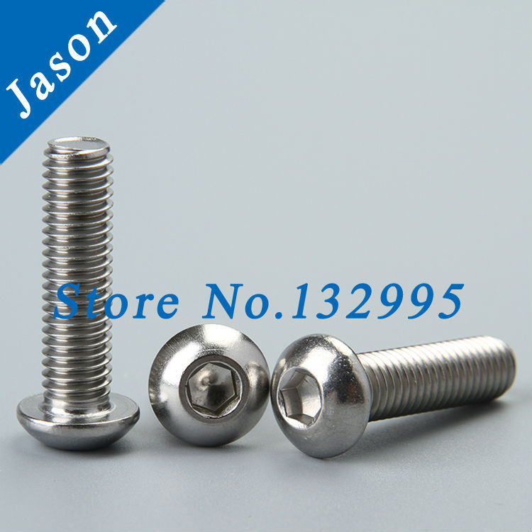 M8*16  ISO7380  Stainless Steel A2 Hex socket button head cap screw  SUS 304 ISO7380 M8*L<br><br>Aliexpress