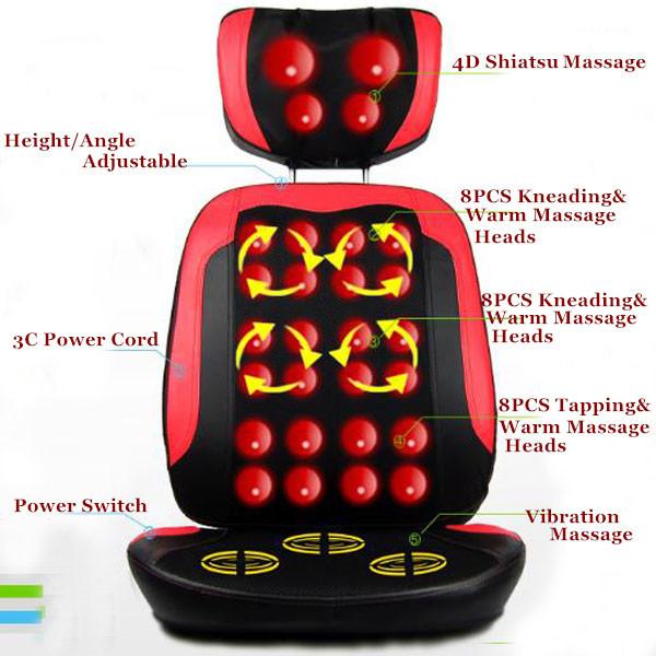 Quality Goods Free Shipping Comfort Massage Chair Massage Pad Full-body Massage Device Cushion For Neck(China (Mainland))