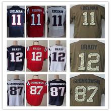 Cheap men's jersey,Elite #12 Brady 11 Edelman 87 Gronkowski Jerseys,Size M L XL XXL XXXL,Best Quality,Authentic Jersey(China (Mainland))
