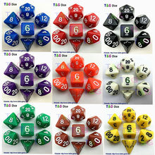 Wholesales 7pc/lot High Quality Multi-colored Dice Set D4,6,8,10,10%,12,20 dnd dice sets,Dungeons and Dragons Board Game  Dice(China (Mainland))