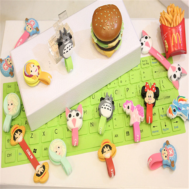 Lovely Animals Cable Winder Clip Headphone Earphone Winder Earbud Silicone Cable Cord Wrap Organizer Holder for iPhone Wholesale(China (Mainland))