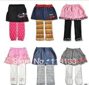 2013- girl tutu skirt nine Leggings skirt veil skirt culottes girl leggings baby pantskirt