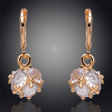 Vintage Design  Fashion Jewerly  Water Drop Austrian Crystal 18k Gold Plated Pendant  Jewelry Accessories Earrings For Women(China (Mainland))