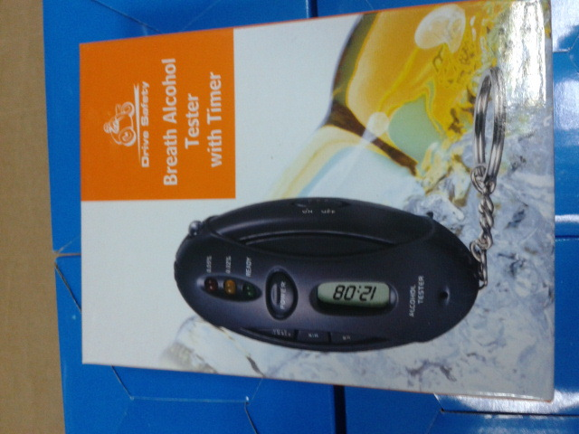 2120 Alcohol Tester alcohol detector lamp was Keychain(China (Mainland))
